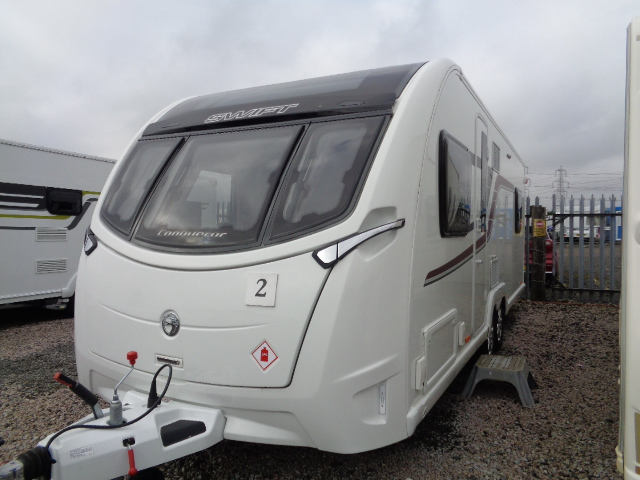 Caravan No. 02 – 2017 Swift Conqueror 650 T/A, 4 berth, £22,600